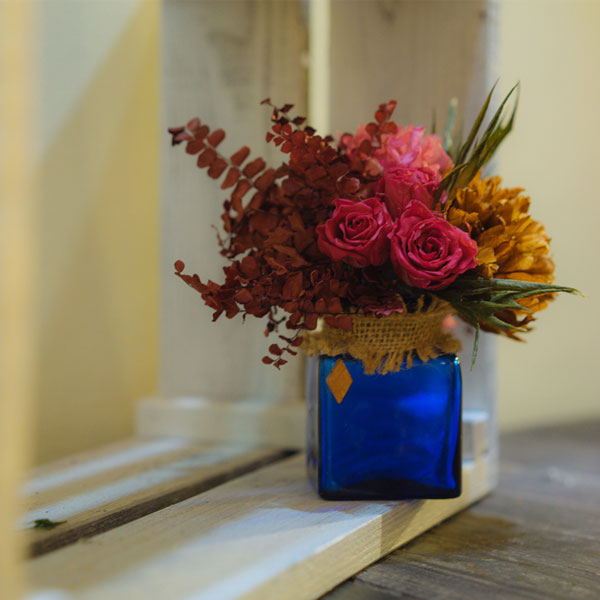 cách trang trí nhà với hoa khô đơn giản mà đẹp