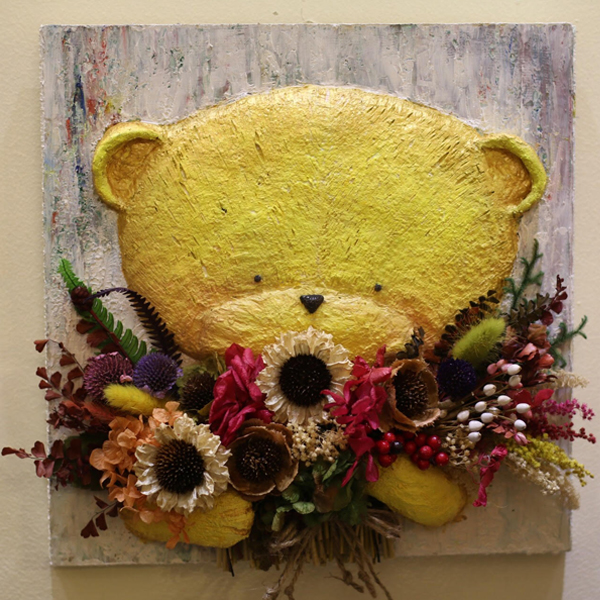 Tranh Hoa 3D - Tranh gấu nhỏ